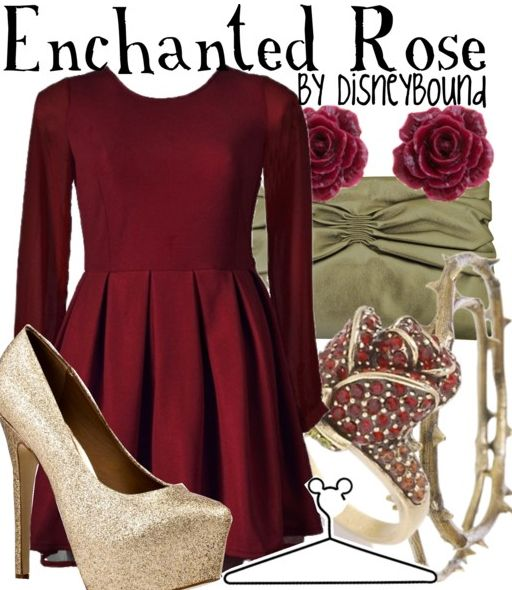 enchanted rose  beauty and the beast   disneybound