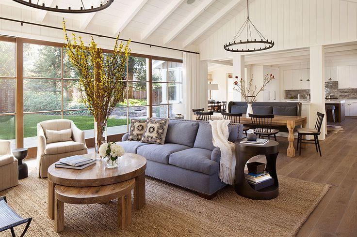 Arredare un open space cucina soggiorno rustico 10