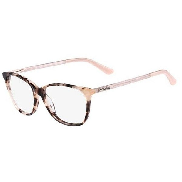 Lacoste L2690 214 Rose Havana Frame Eyeglasses ($88) ❤ liked on Polyvore featuring accessories, eyewear, eyeglasses, lacoste glasses, lacoste eyewear, plastic eyeglasses, lens glasses and lacoste eyeglasses