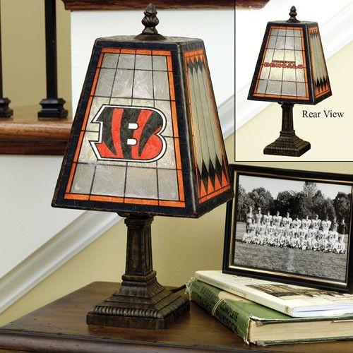 Cincinnati Bengals Art-Glass Table Lamp