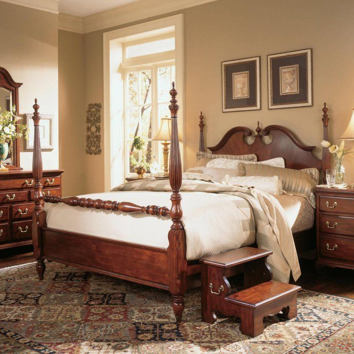 American Drew Cherry Grove Low Poster Bed Bedroom Sets Discount