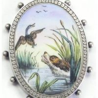 Victorian Aesthetic Enamel Locket