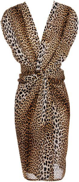 ruffian Leopard-print Silk Dress - Lyst