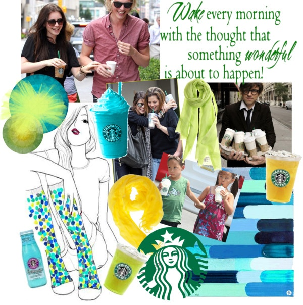 """""""STARBUCKS: Re-energize As You Go"""" by januaryceleste ❤ liked on Polyvore"""