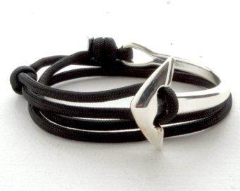 Wählen Sie Ihre Farbe gebogen Anker Armband  blaue von knotwrap