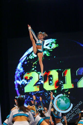 outrageous cheer stunts   Cheer and tumble   flyer-to-inspire: Kendall Bridges. Cheer Extreme...