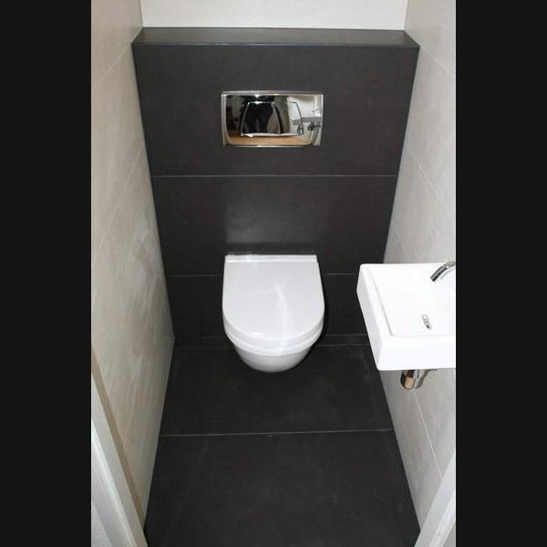 Toilet - Vloertegels bij toilet.