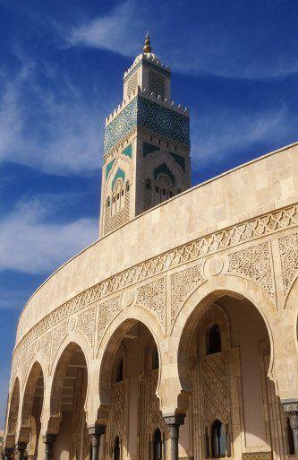 Maroc. Casablanca !   Grande Mosquée HASSAN II ...   Symbole d'Artisanat Marocain .