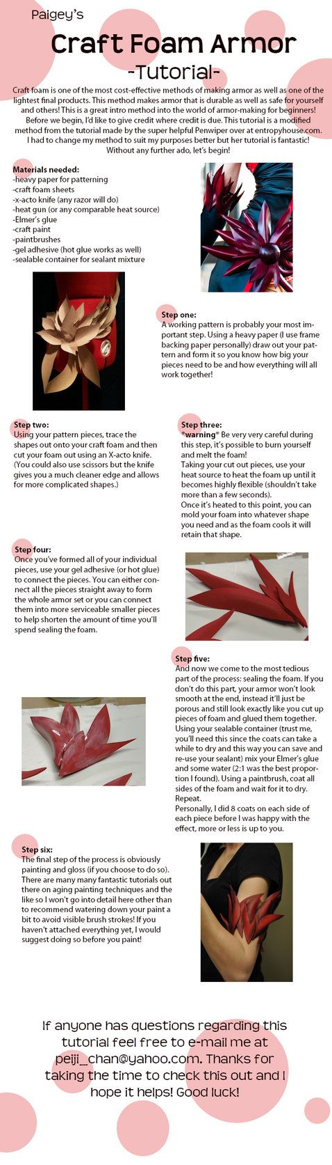 Craft Foam Armor Tutorial by ~MissCordie on deviantART