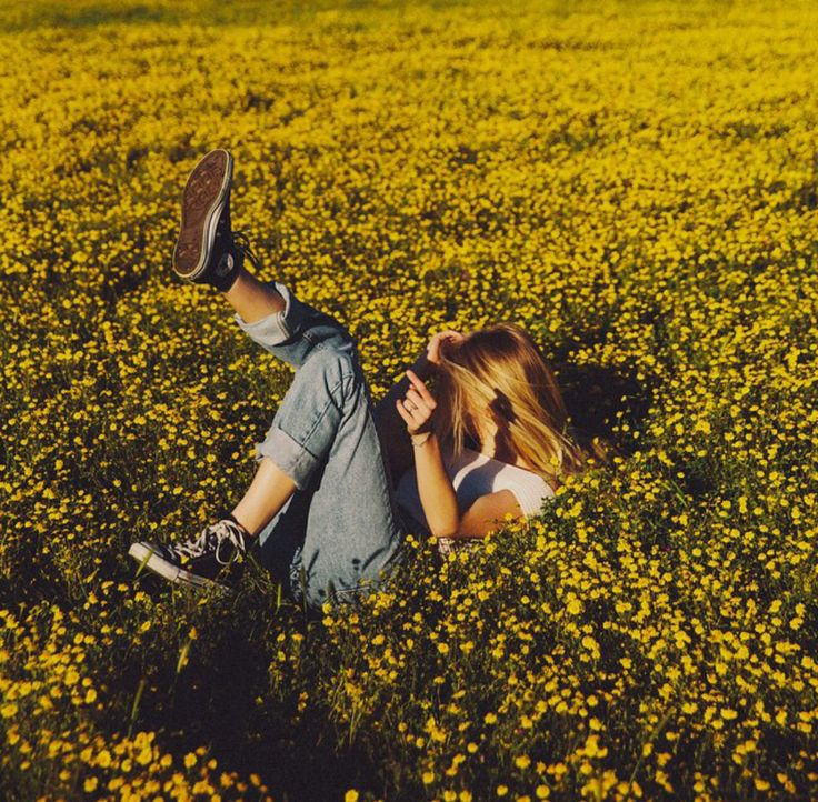 relax in a field of yellow flowers... but I am sure there are bees everywhere.
