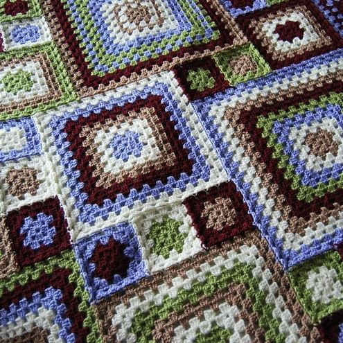 Big and small granny squares