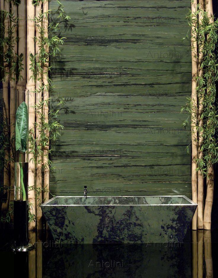 "Verde Bamboo ""Vein Cut & Cross Cut"" *Photo Courtesy of Antolini* Available at La Galleria Scottsdale 15855 N. Greenway Hayden Loop, Suite 110 Scottsdale, AZ 85206 623.396.9204"