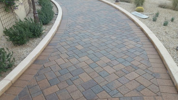 Cleaned sealed cleaning sealing Pavers in Paradise Valley Arizona at Camelback Inn golf course