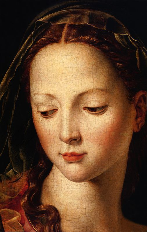 Agnolo Bronzino, Madonna w Child and the Infant St. John the Baptist detail
