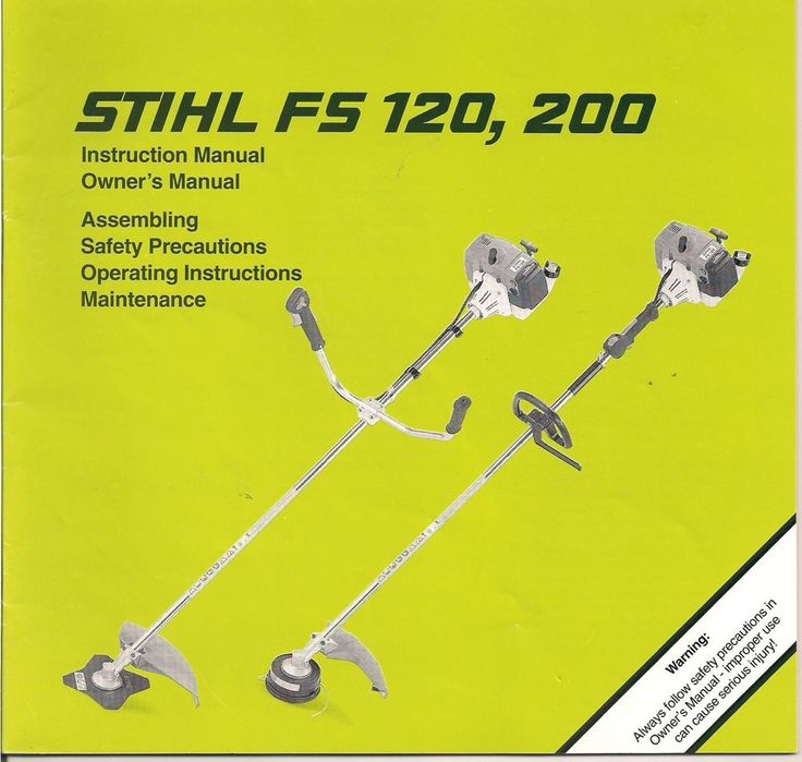 Stihl FS120 & 200 Brush Cut Owner Instruction Maintenance Assembly Safety Manual #Stihl