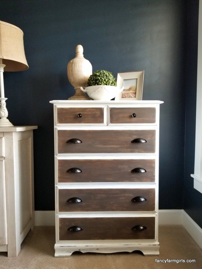 Even the simple and boring orange tone dressers can get lovely makeovers