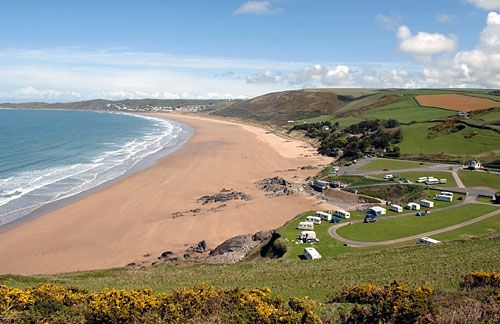 Woolacombe beach, massive beach in north Devon, UK