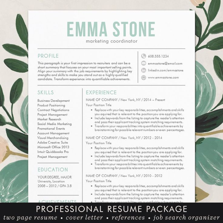 11 best Resume Templates images on Pinterest Resume templates - resume templates word mac