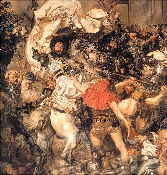1410 Battle of Grunwald, the death of the Grand Master Ulrich von Jungingen (detail) - Jan Matejko