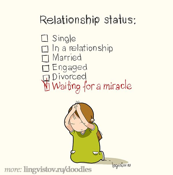 Relationship status: Single In a relationship Married Engaged Divorced Waiting for a miracle