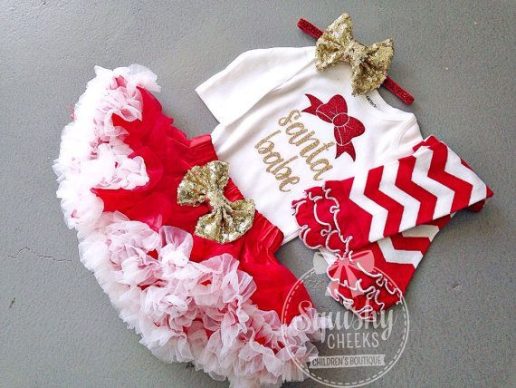 Santa Babe Christmas Outfit, the perfect Christmas dress for any little girl, newborn-6T