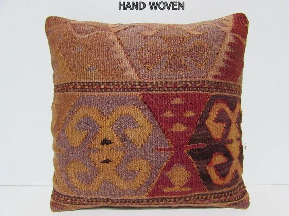 rustic pillow case 18x18 bohemian pillow floor pillow cover moroccan rug antique…