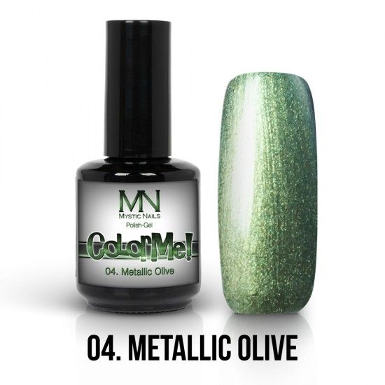 ColorMe! Metallic no.04. - Metallic Olive 12ml gel polish lakkzselé gél lakk nail art mystic nails