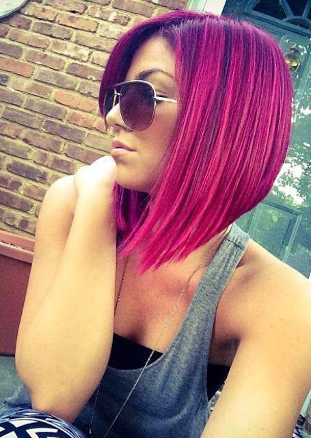 Bob Haircuts in Pink Shades!