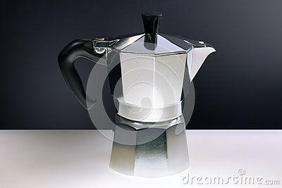 Moka cofee machine, still life, italy, original photo elaboration