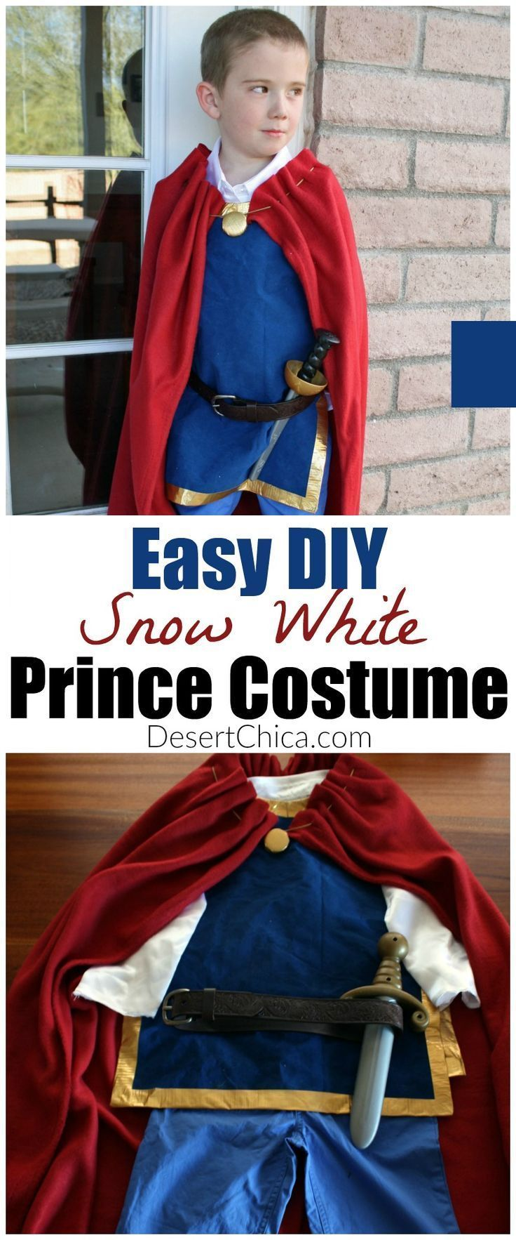 Who says princesses have all the fun?!? | Easy DIY Snow White Prince Costume Cosplay |