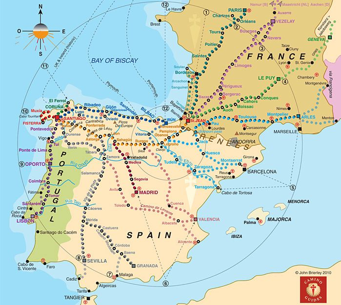 Camino routes....The Camino Documentary: About the Camino de Santiago