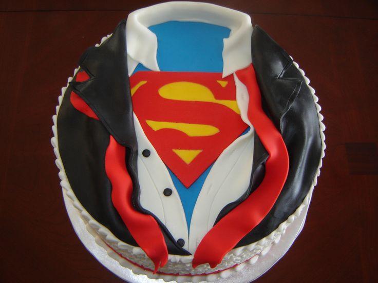 Superman Chocolate Cake