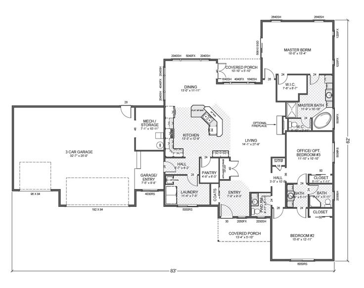 54 best images about home plans on pinterest house plans for Rambler floor plans