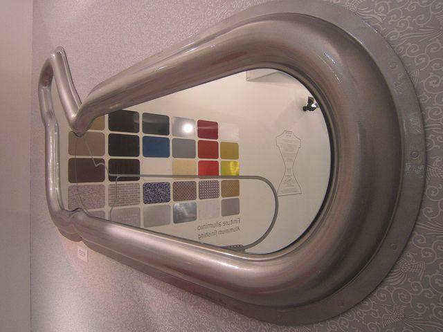 #monza mirror by @Valentina Fontana for #altreforme, #limitededition at Salone del Mobile 2011 #interior #home #decor #homedecor #furniture #aluminium #madeinitaly