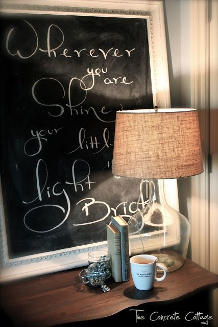 DIY Jar Lamp at The Concrete Cottage