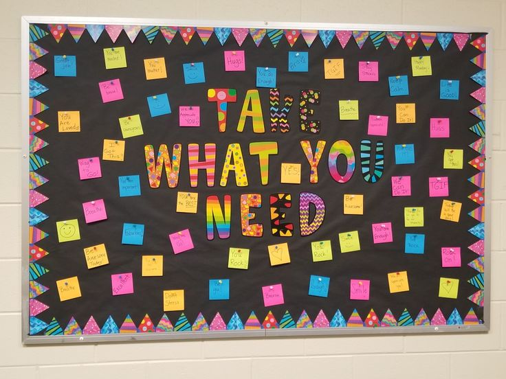 "Our version for the staff lounge...  ""Take What You Need"" motivational/ morale boosting bulletin board #educators #teacherslounge #bulletinboards #admin #coaching #morale #school #takewhatyouneed"