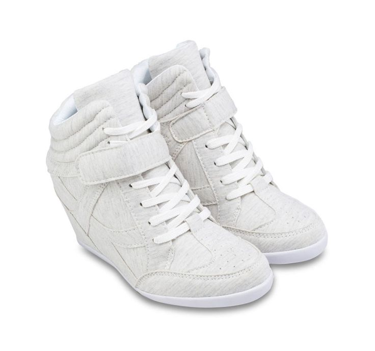 Jersey Laced Up Hidden Wedge Sneakers by Zalora. Give androgynous appearance with a collection of sneaker wedges of ZALORA. Details comfortable cushioning with hidden wedge makes Jersey Laced Up Hidden Wedge Sneakers able to create a leggy look. http://www.zocko.com/z/JJyxA