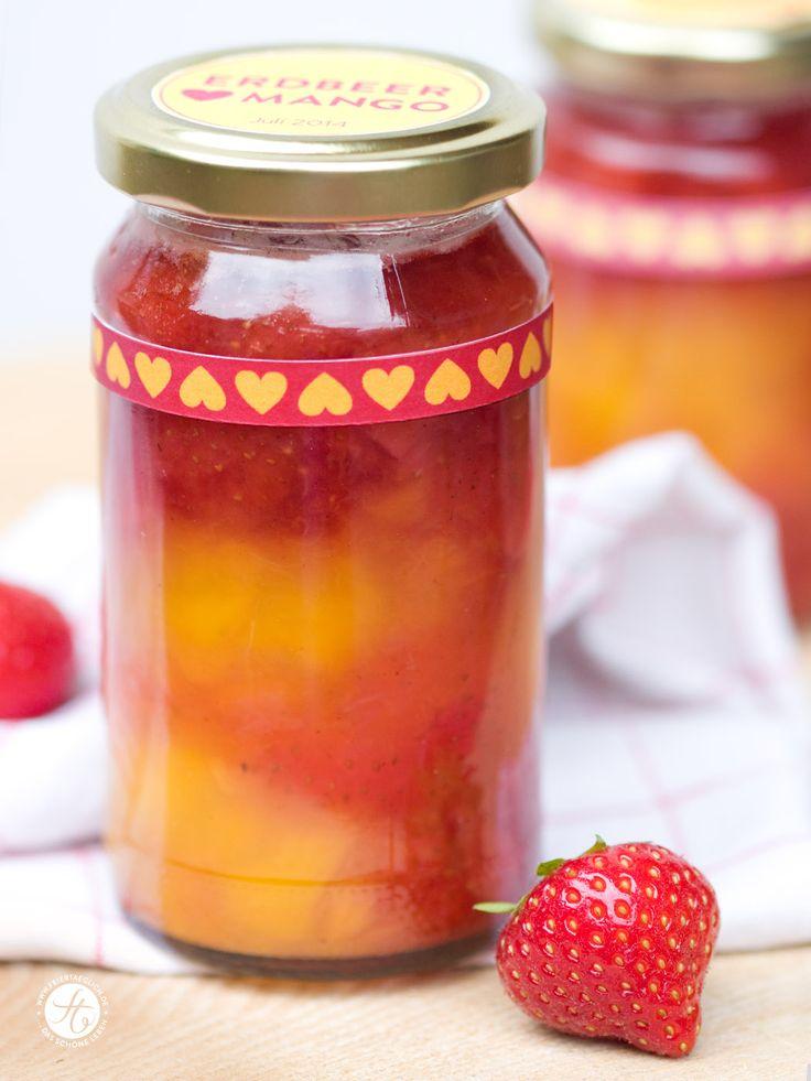 Erdbeer liebt Mango Marmelade – ganz ohne Zucker! | feiertäglich…das schöne Leben