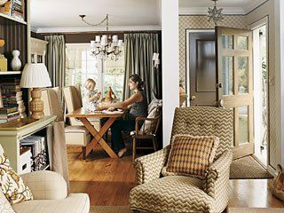 This is just such a cozy home. The table makes me want to spread out and do a craft project.