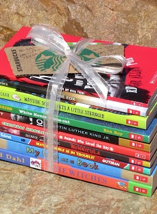Stack of Books for the Classroom Teacher Gift, you could do math books for math science for science history for social studies and any books for reading1!
