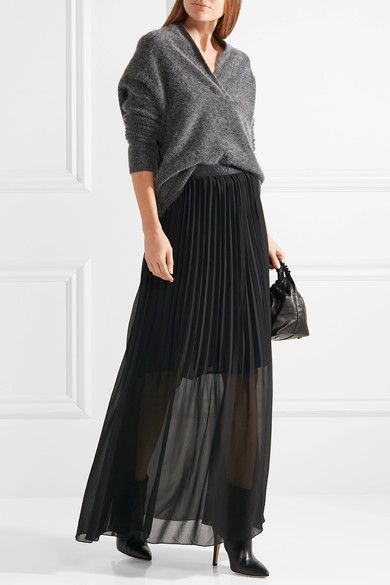 By Malene Birger | Lallah pleated chiffon maxi skirt | NET-A-PORTER.COM