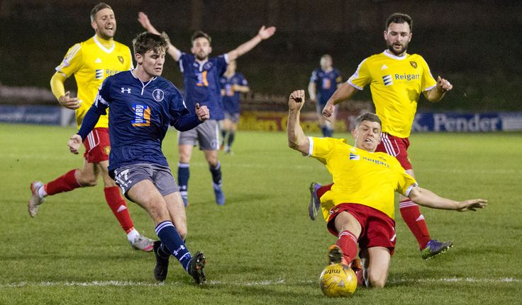Queen's Park's Gavin Mitchell in action during the Ladbrokes League One game between Albion Rovers and Queen's Park.