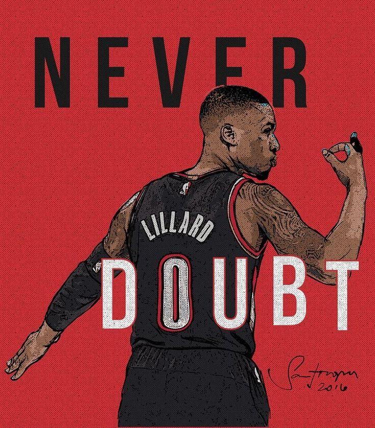 'Never Doubt' Damian Lillard Art
