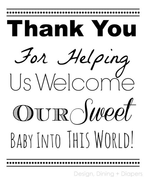 Nurse Thank You Printable via @Taryn {Design, Dining + Diapers}