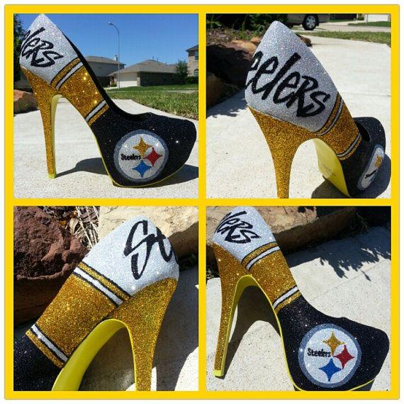 6dbb5d8aa5b Custom Pittsburgh Steelers heels by Akkustomz on Etsy