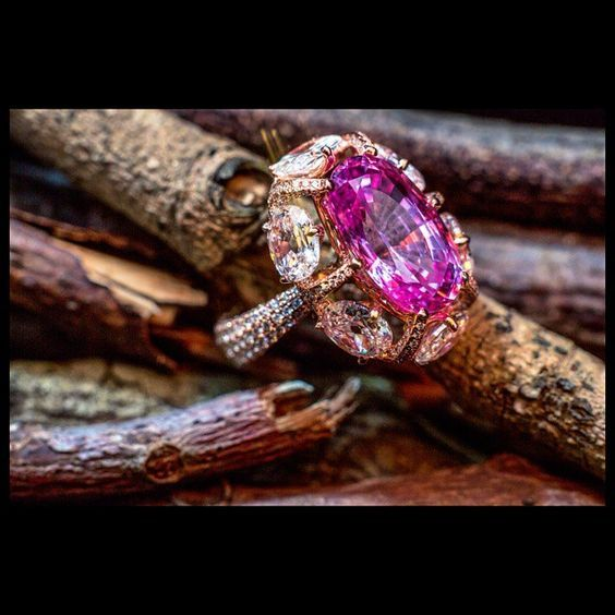 Instagram media by formsjewellery – A Natural Pink Oval Sapphire