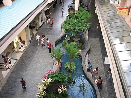 Ala Moana Shopping Center, Honolulu HI (the biggest and busiest shopping center on the island!)