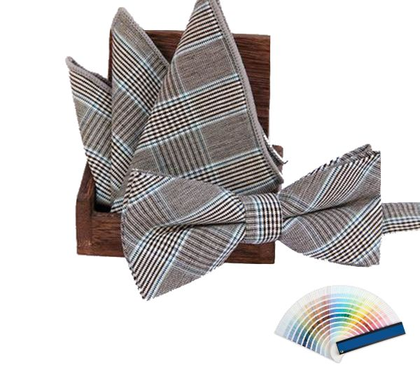 Fine Checks Bow Ties & Pocket Squares