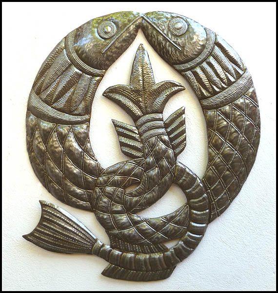 Metal Fish Wall Decor 38 best metal fish art images on pinterest | fish art, metal walls