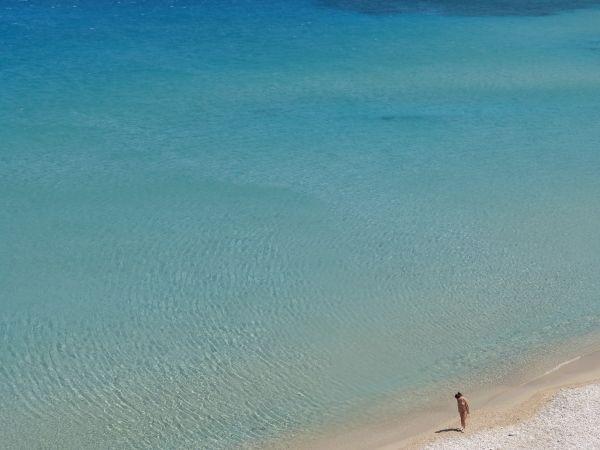 The girl and the sea, Damatria beach
